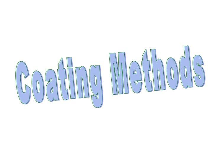 Coating Methods