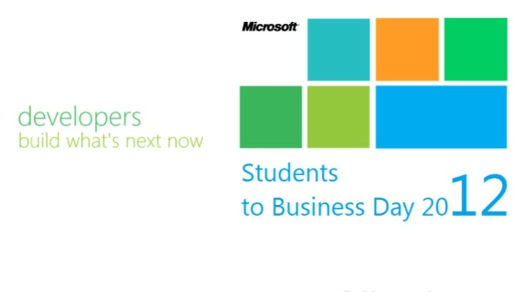 Students to Business Day 2012: Sas