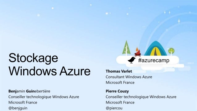 Le stockage sur Windows Azure (Blob et SQL Database)