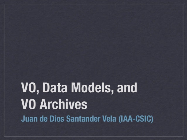 VO Course 06: VO Data-models