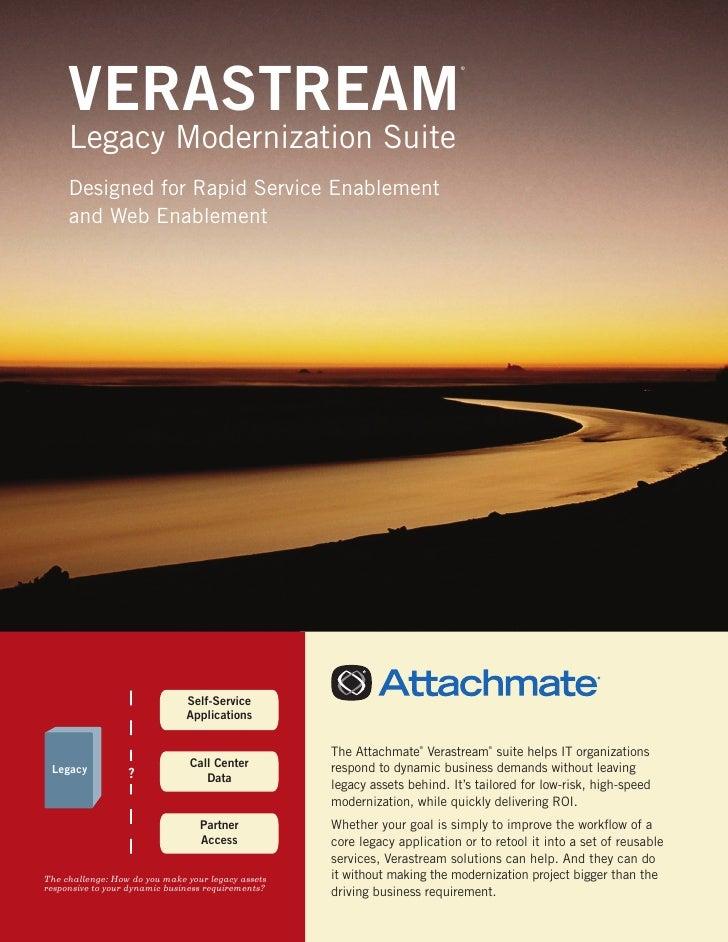 VERASTREAM                                                                            ®     Legacy Modernization Suite    ...