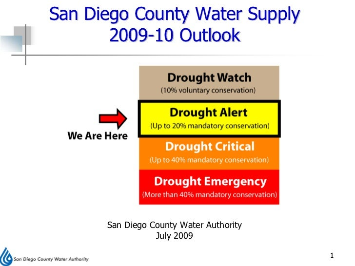 San Diego County Water Supply        2009-10 Outlook           San Diego County Water Authority                  July 2009...
