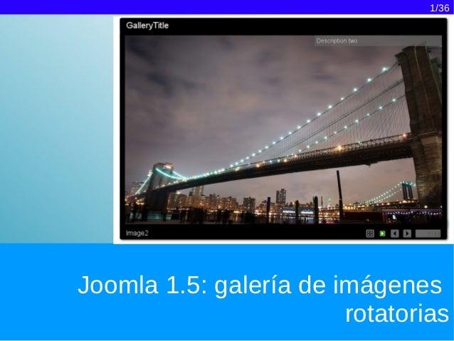 Joomla 1.5: galería de imágenes rotatoria