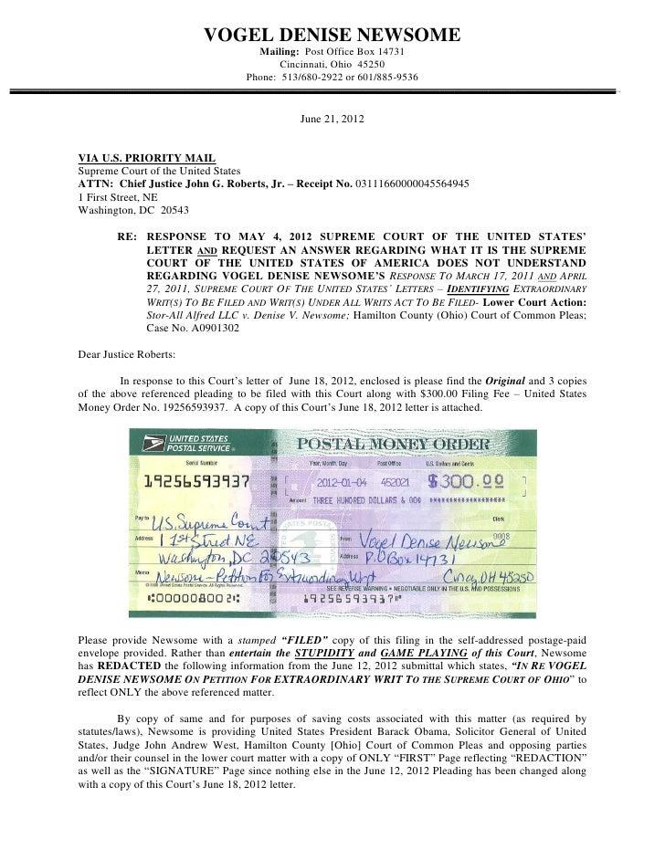 062112  Letter To JusticeJohnRoberts