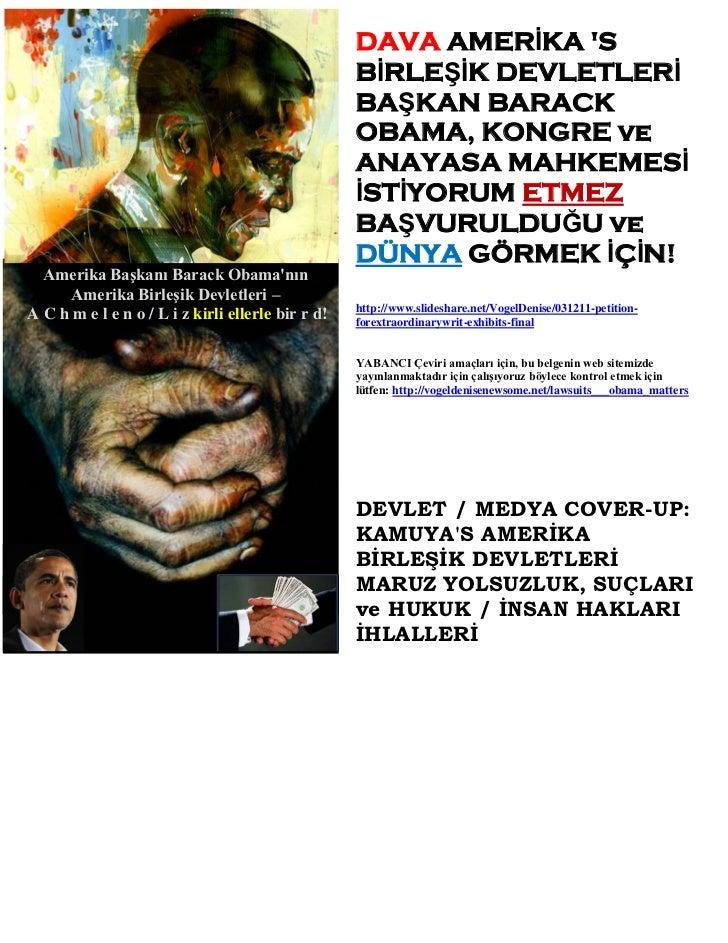 DAVA AMERİKA S                                                   BİRLEŞİK DEVLETLERİ                                      ...