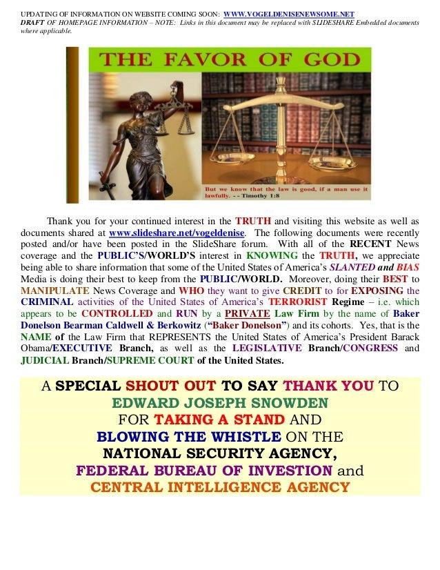 06/25/13 - DRAFT OF HOME PAGE INFORMATION FOR WEBSITE (www.vogeldenisenewsome.net)