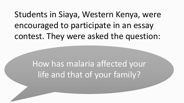 Write an expository essay on malaria