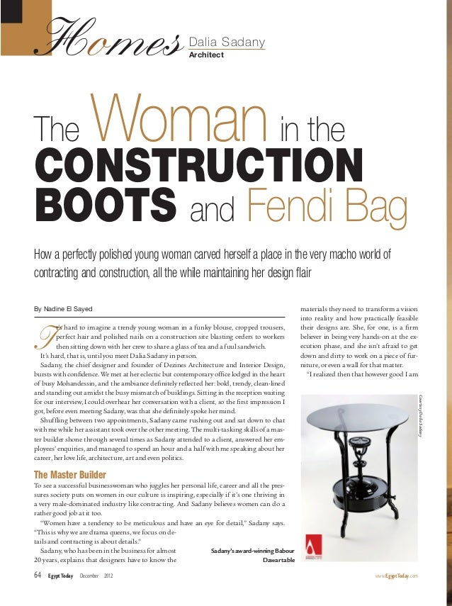 The Woman in Construction Boots and Fendi Bag