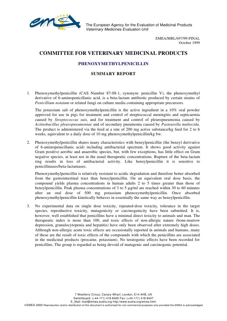 The European Agency for the Evaluation of Medicinal Products                                                 Veterinary Me...