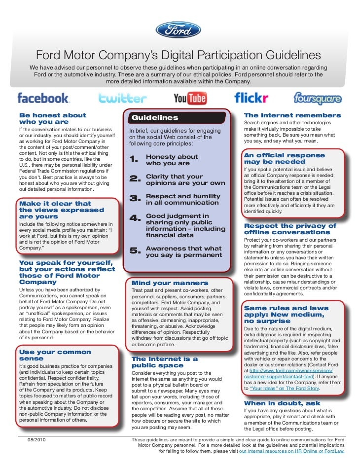 06b.Ford social media guidelines