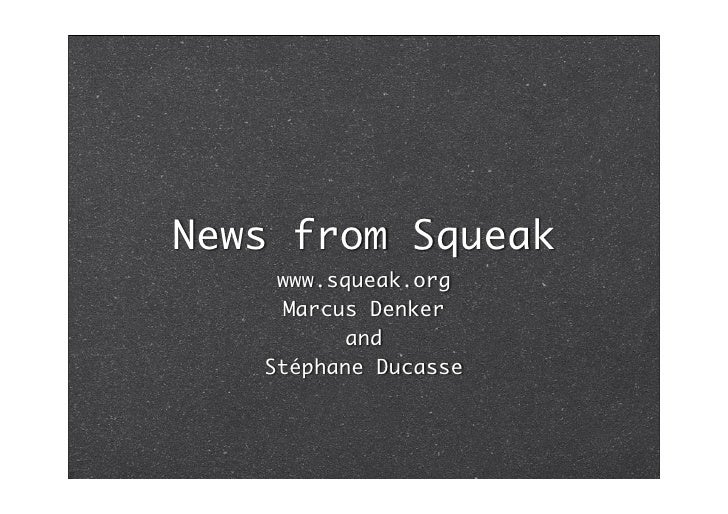 What's new in Squeak 3.9