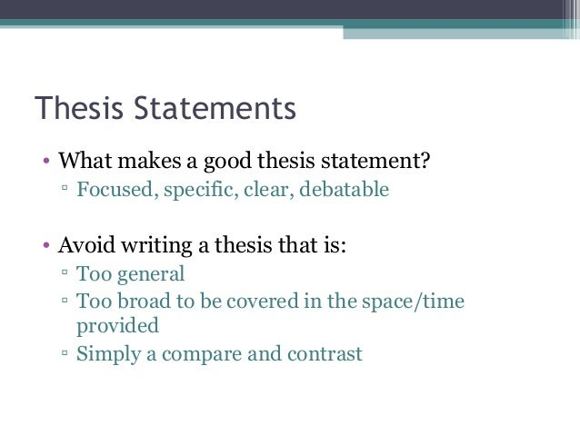 how to make a good thesis statement for an essay