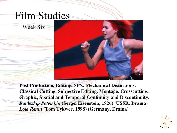 Film Studies Week Six Post Production. Editing. SFX. Mechanical Distortions.  Classical Cutting. Subjective Editing. Monta...