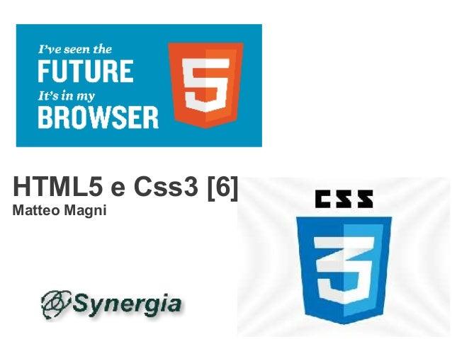 HTML5 e Css3 [6]Matteo Magni