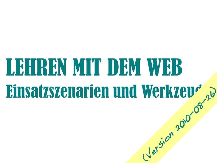 Lehren mit Web 2.0