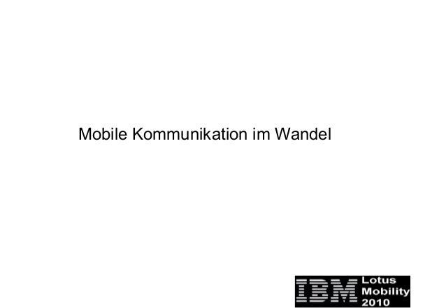 Mobile Kommunikation im Wandel