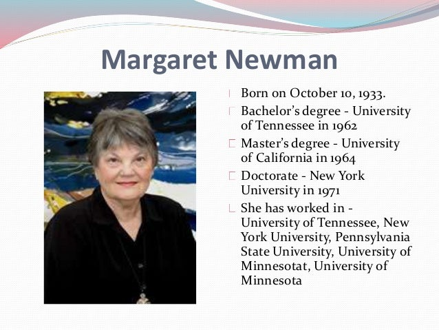 margaret newman theory Giving voice to what we know margaret newman's theory of health as expanding consciousness in nursing practice, research, and education carol picard.