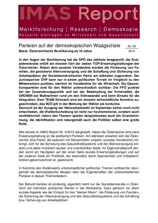 Marktforschung | Research | DemoskopieAktuelle Umfragen zu Wirtschaft und GesellschaftParteien auf der demoskopischen Waag...