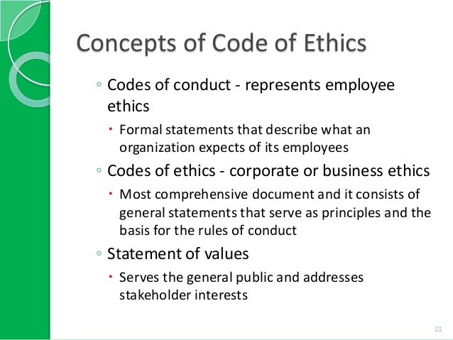 the elements of the formal code of ethics Acm code of ethics the acm code of ethics identifies the elements of every member's commitment to ethical professional conduct they may serve as a basis for judging the merit of a formal complaint pertaining to violation of professional ethical standards.