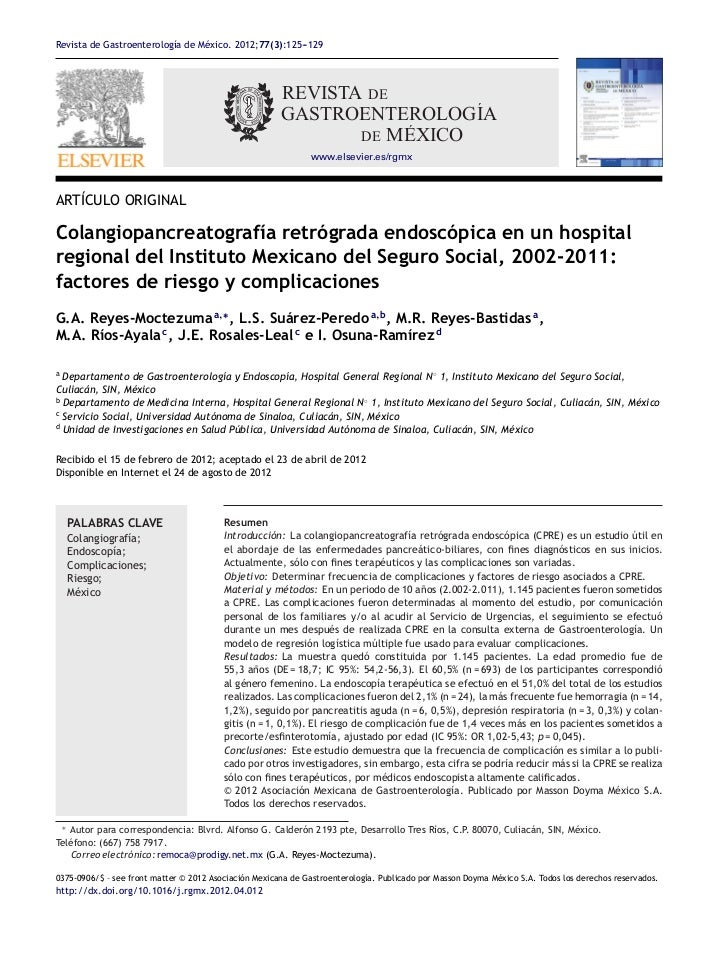 Revista de Gastroenterología de México. 2012;77(3):125--129                                                       -       ...