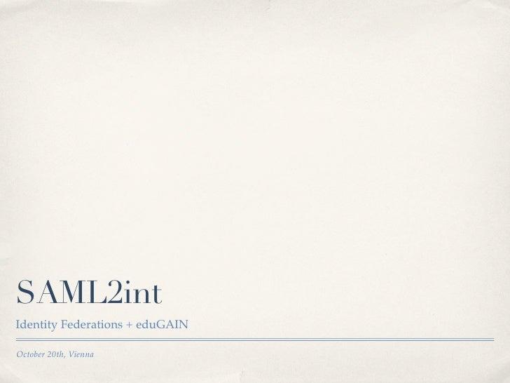 SAML2int