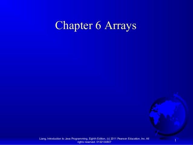 """Java™ (OOP) - Chapter 6: """"Arrays"""""""