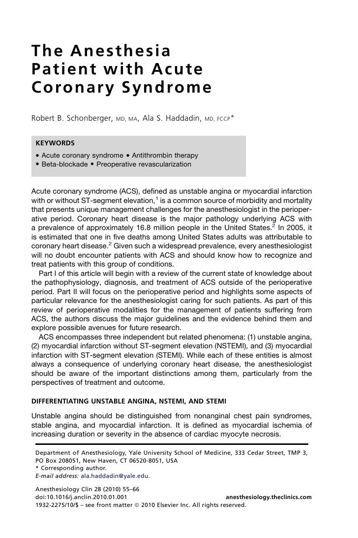 06 the anesthesia patient with acute coronary syndrome copia