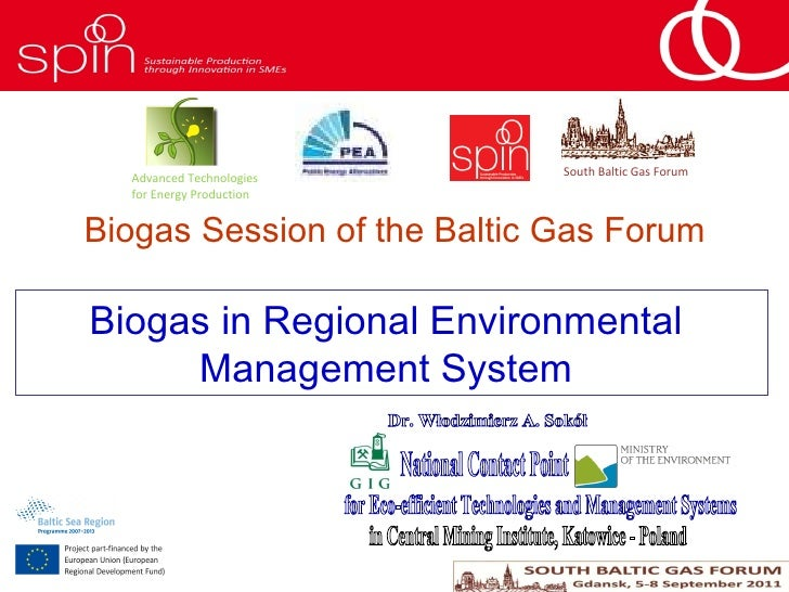 Sokół W.A. Biogas in Regional Environmental Management System National Contact Point for Eco-efficient Technologies and Ma...