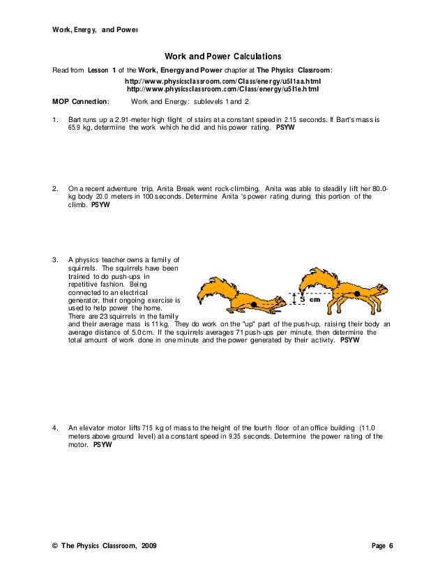 Worksheets Work , Energy And Power Worksheet Answers work and power problems worksheet narrativamente 06 energy amp 1
