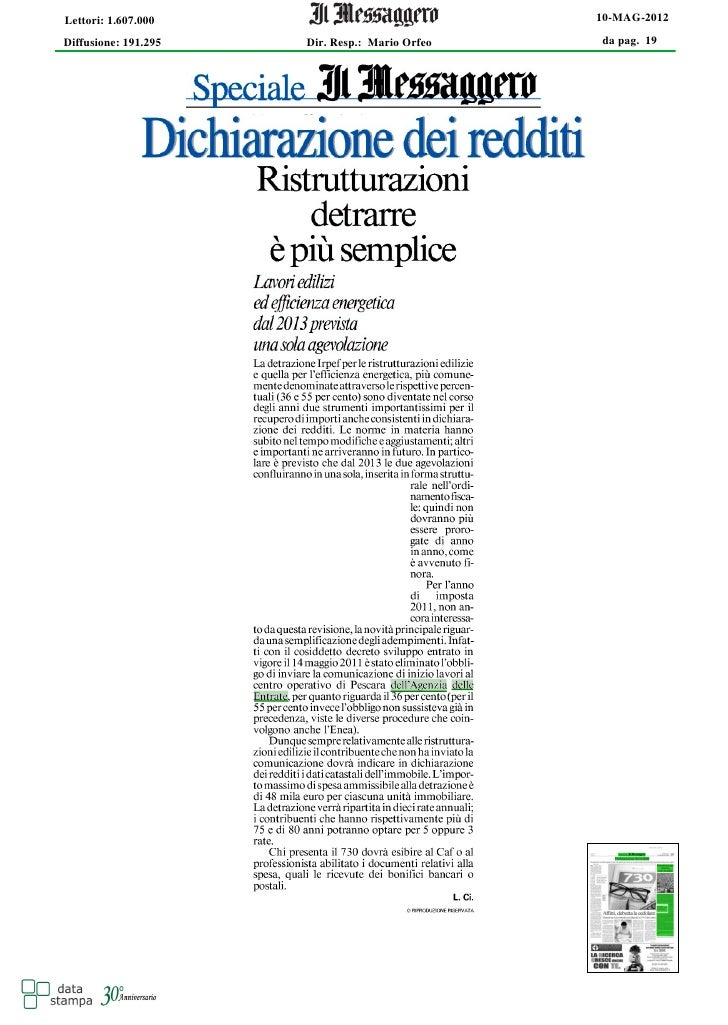 STUDIO NATILLO / Rstrutturazioni detrarre e' piu' semplice
