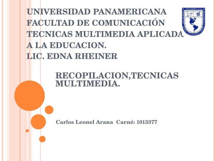 07 08-2010 recopilacion tenicas multimedia