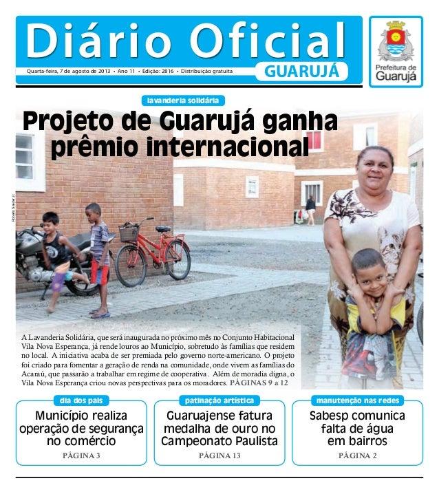 Município realiza operação de segurança no comércio Página 3 dia dos pais Sabesp comunica falta de água em bairros Página ...