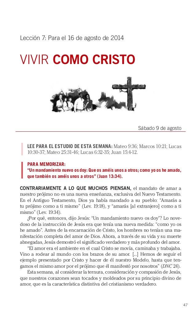 Lección 7   Vivir como Cristo   Escuela Sabática Tercer trimestre 2014   PDF