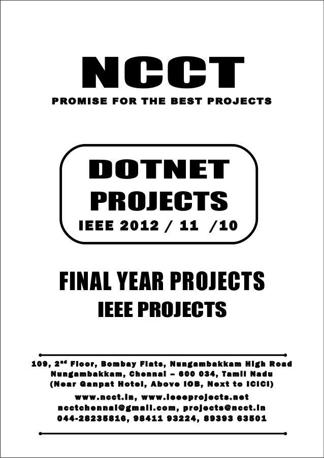 07 2012-11 ieee dot net ieee project titles yr 2012 - 11 - 10, ncct .net ieee project list