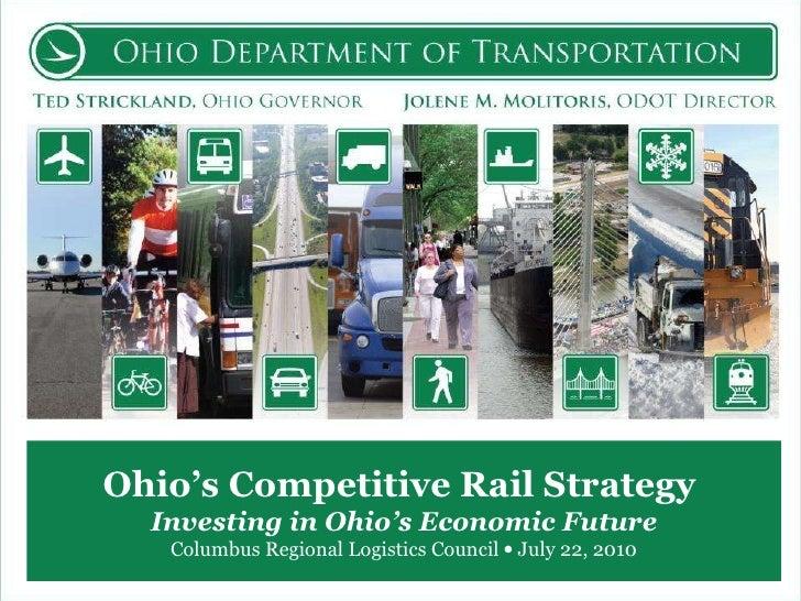 Ohio's Competitive Rail Strategy  Investing in Ohio's Economic Future Columbus Regional Logistics Council    July 22, 2010
