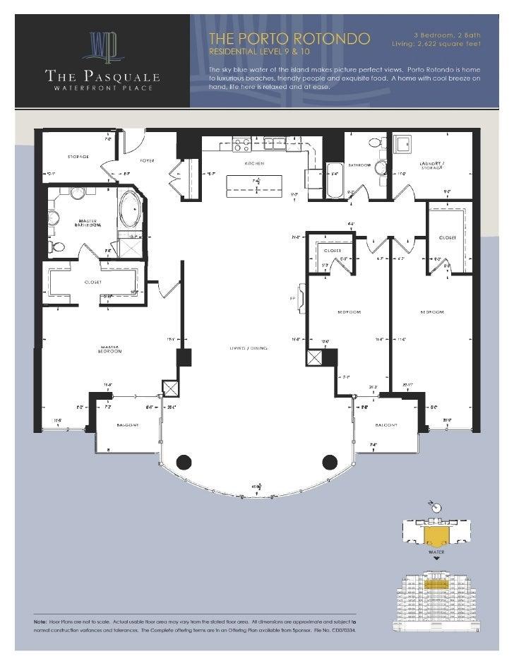 Waterfront Place Floorplans