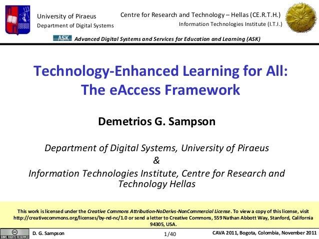 Technology-Enhanced Learning for All:The eAccess Framework