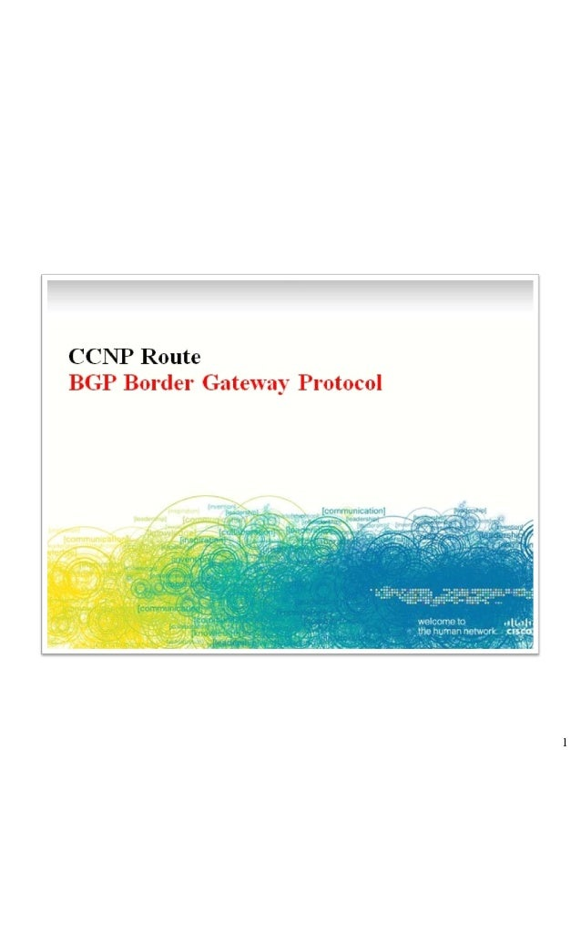 Implement an eBGP based solution, given anetwork design and a set of requirements  Determine network resources needed for ...