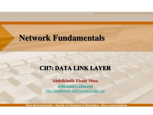 Network Fundamentals: Ch7 - Data Link Layer