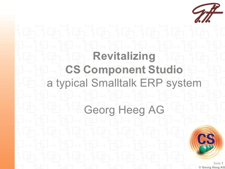 Revitalizing CS Component Studio