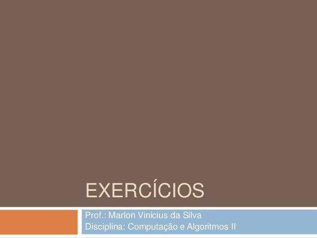 07   exercícios