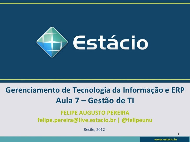 GTI/ERP 06/12 Gestão de TI