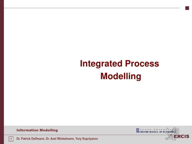 Integrated Process<br />Modelling<br />