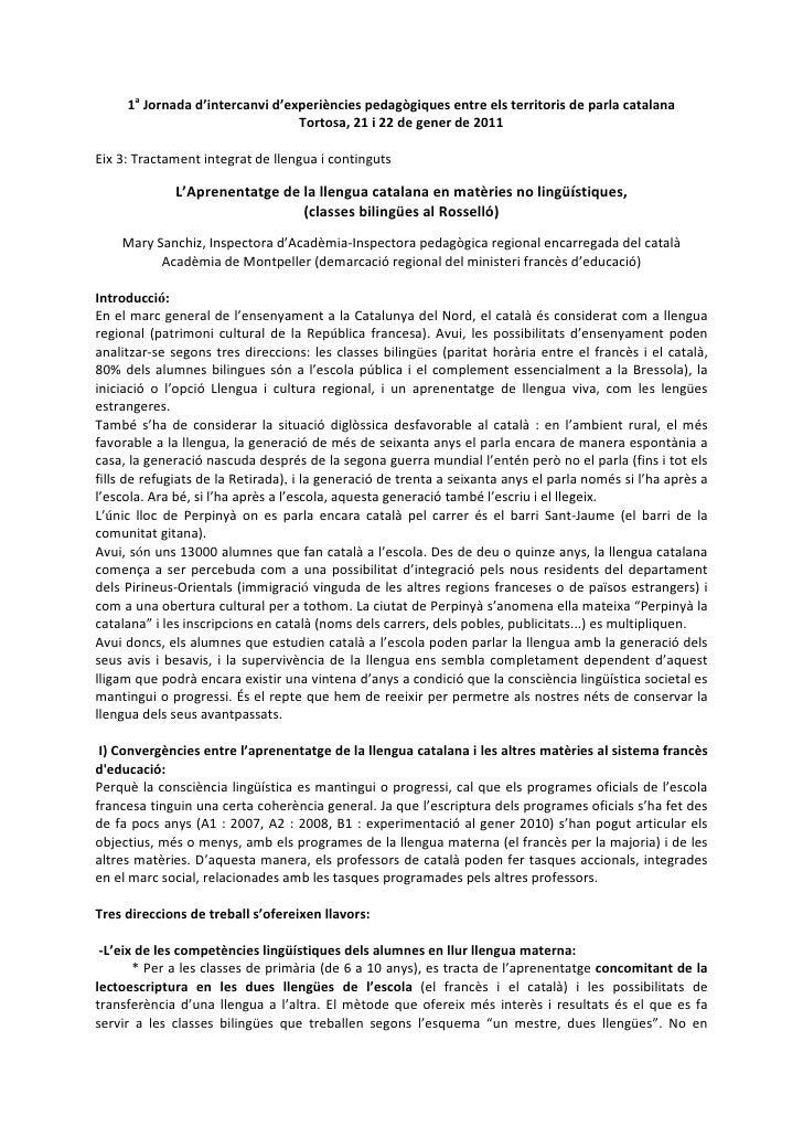 1a Jornada d'intercanvi d'experiències pedagògiques entre els territoris de parla catalana                                ...