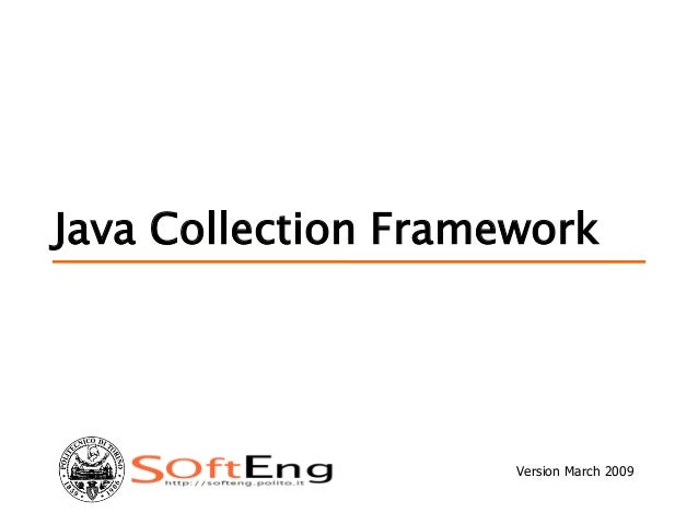 Java Collection Framework Version March 2009