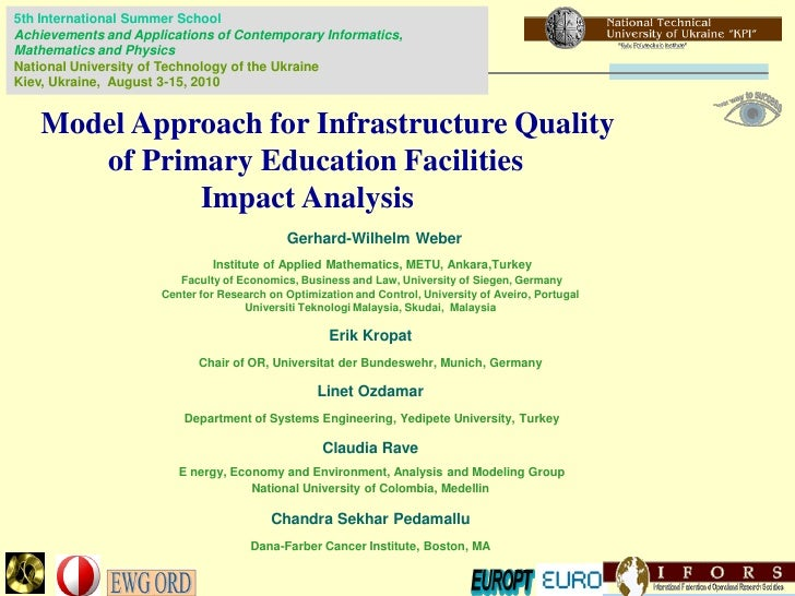 Model Approach for Infrastructure Quality of Primary Education Facilities. Impact Analysis