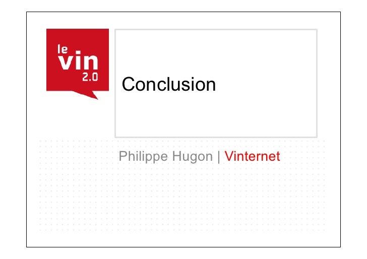 Conclusion   Philippe Hugon | Vinternet