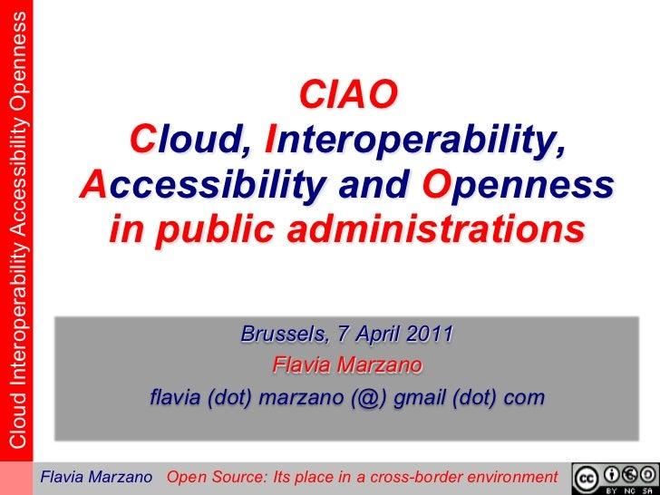 ePractice workshop on Open Source Software, 7 April 2011 -  Flavia Marzano