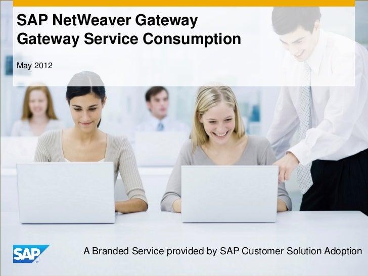 SAP NetWeaver Gateway - Gateway Service Consumption