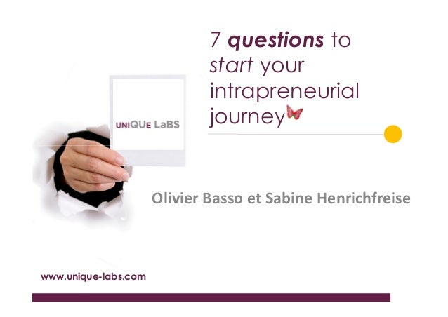 Seven questions to start your intrapreneurial journey